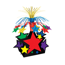 "Beistle Star Centerpiece 15"" - MultiColor- Pack of 12 - $48.83"