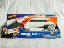 NERF N-Strike Elite Rough Cut Blaster 2x4 Dart Gun Pump-Action Hasbro NI... - $38.41