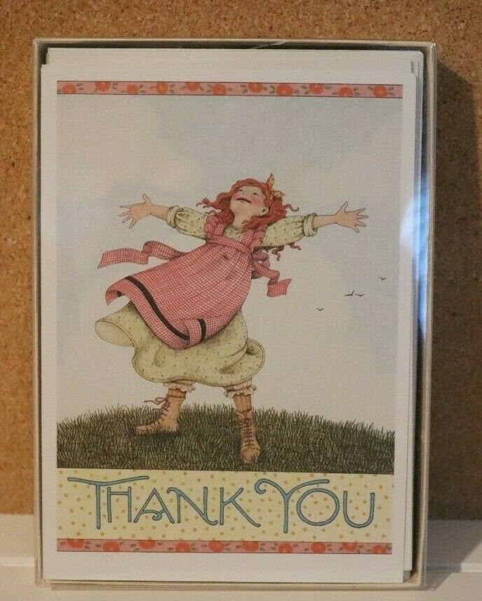 Primary image for Vintage 1989 Mary Engelbreit THANK YOU NOTE CARDS + ENVELOPES SET 12