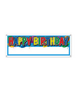"""Beistle Happy Birthday Sign Banner 5' x 21""""- Pack of 12 - $56.13"""