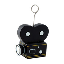 Beistle Movie Camera Photo/Balloon Holder 6 Oz- Pack of 6 - £25.52 GBP