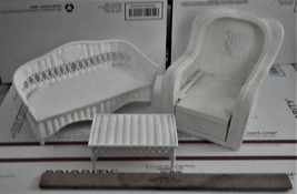 Doll Furniture - 3 piece white retan furniture - $20.00