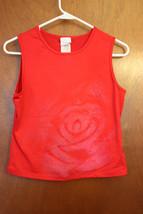 Filati Juniors XL Red Tank with Rose detail - $3.99