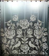 WHITE Color PAPER CUTTING Design 180 x 220 cm PEVA Bathroom SHOWER CURTA... - $23.99
