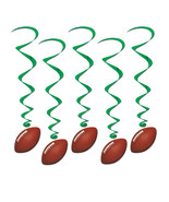"""Beistle Football Whirls 3' 4"""" (5 Ct)- Pack of 6 - $33.09"""