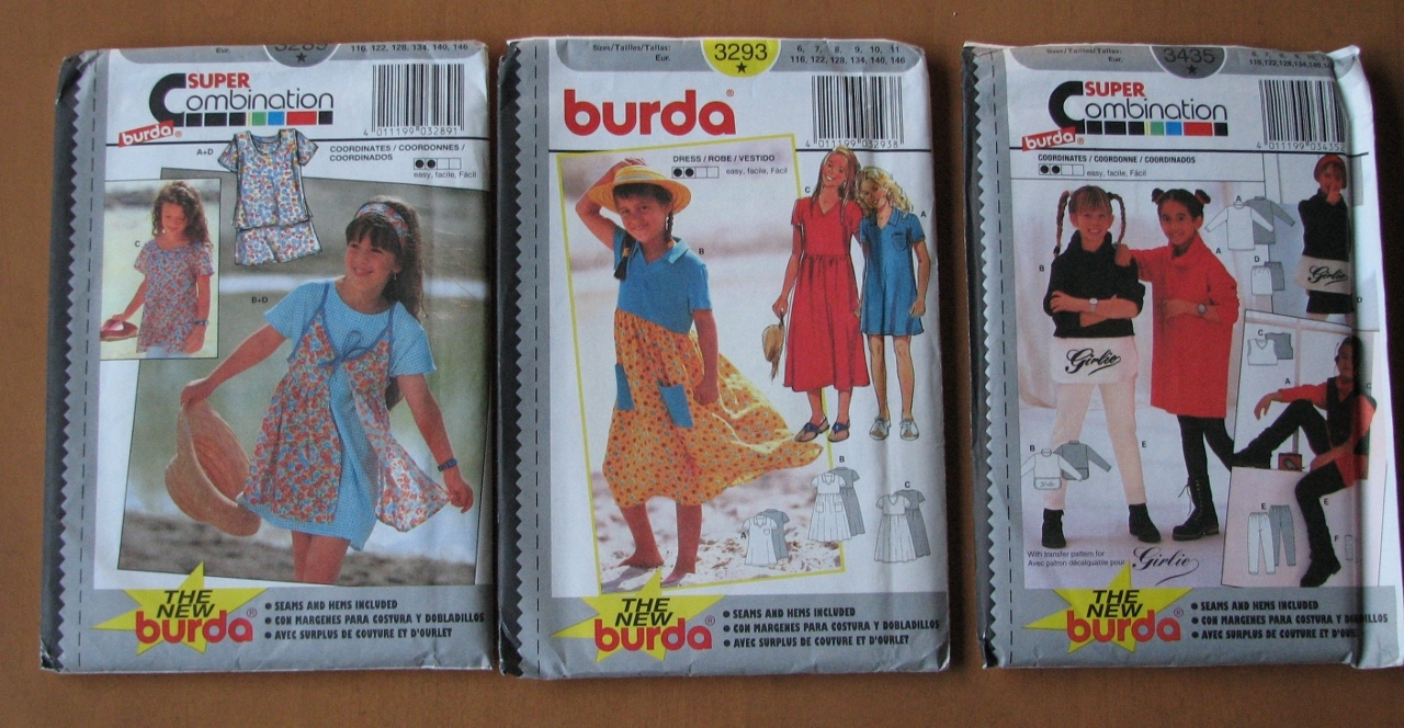 Patterns   girls outfits   burda 3289 3293 3425  lot 4  1280x664