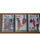 Girls Leggings Dresses Top Vest Skirt Sweater 3 Burda Patterns 6 to 11 - $6.93