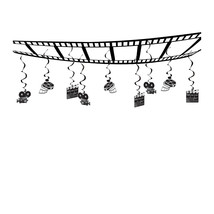 """Beistle Movie Set Ceiling Decor 12"""" x 12'- Pack of 6 - $58.06"""