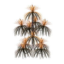 "Beistle Firework Chandelier 24"" x 12"" - Orange & Black- Pack of 12 - $70.24"