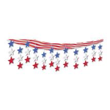 "Beistle Stars & Stripes Ceiling Decor 12"" x 12'- Pack of 6 - $58.06"