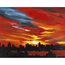 Hudson Sunset - $1,300.00