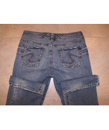 Silver Suki Medium Wash Bootcut Stretch Distressed Denim Jeans Womens 30 x 31 - $47.02