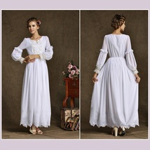 Medieval Renaissance Elizabethan Embroidery Beaded Chiffon Damsel Under Dress