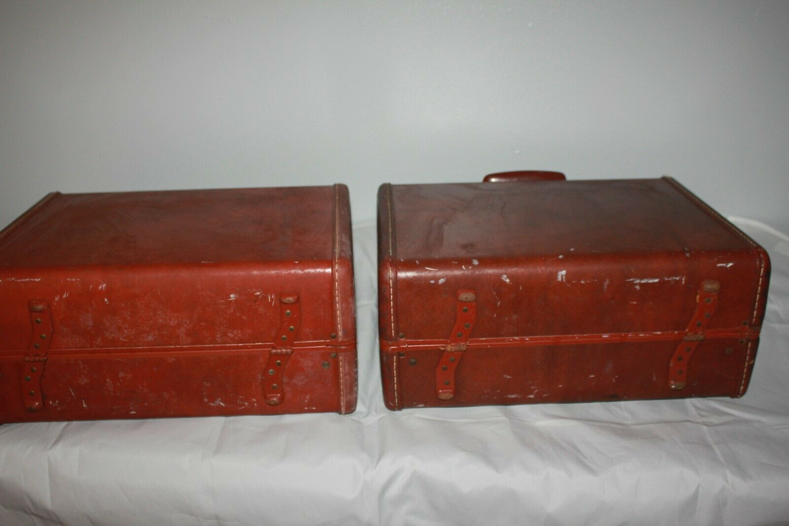 Lot of 2 Vintage 1950's Samsonite Suitcases - Luggage Shwayder Bros Denver 4916