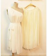 Grecian Goddness. One Shoulder Grecian Pleated White Chiffon Dress. Cock... - $90.90