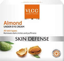 VLCC Almond Under Eye Cream Skin Defense For All Skin Types 15 ml (Pack ... - $15.80