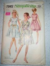Vintage Simplicity Junior & Misses Size 11 Dress #7945 1968 - $4.99