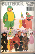 1990 Butterick Costumes #5142 Size Toddler 1-3 & Childs 4-5-6 - $9.95