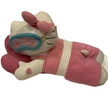 Hello Kitty Large Sleeping Plush w/ Eye Mask & Heart Pillow Rare Sanrio ... - $34.64