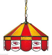 """KANSAS CITY CHIEFS NFL 16"""" STAINED GLASS HOME PUB HANGING BAR TABLE LAMP LIGHT - $599.95"""