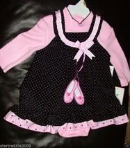 Rare Editions Baby Girls Ballerina 2 Pc Jumper Dress Set. Size12-18 Mont... - $24.74