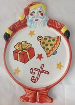 Vintage Ciao Italya by Bellini Santa Plate Platter Hand Painted RM Italy - $14.95