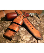Vintage Leather watch strap, 22mm straps, hand made watch band, leather ... - $28.83