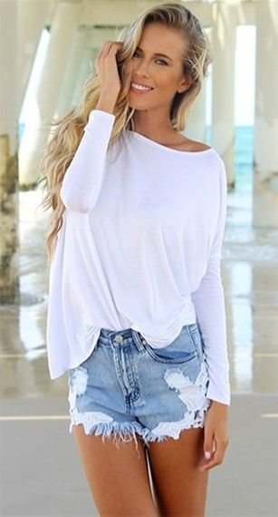 Authentic Piko Bamboo White Long Sleeved T-Shirt Boat Neck Louse Slouch Soft NWT