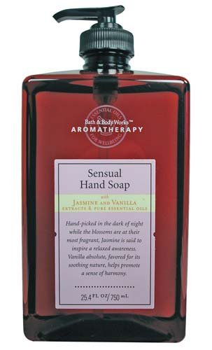 Bath & Body Works Aromatherapy Jasmine and Vanilla Sensual Hand Soap 25.4 oz