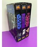 Star Wars Trilogy (VHS, 1995, 3-Tape Set) Full Screen New Hope Empire Jedi - $13.99