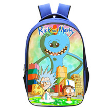 WM Rick And Morty Backpack Daypack Schoolbag Bookbag Blue Type Giant - $19.99
