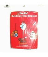 Bucilla Needlepoint Christmas 4 Ornament Set 60515 Snowman Train Tree NEW - $9.89