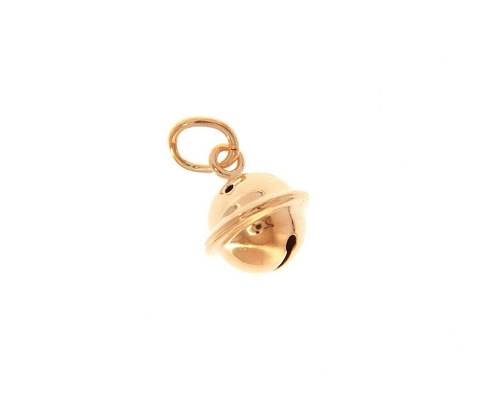 18K ROSE GOLD CALL ANGELS RATTLE ROUND PENDANT, DIAMETER 8mm FOR PREGNANCY
