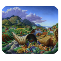 Mouse Pad Nature Editions Fresh Fruits Paint In Beautiful Lake Video Game - $6.00