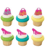 Leopard Cupcake Toppers 24 PC Mothers Day Picks Purse Shoes Baking Desse... - $13.86