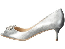 NIB $225 Badgley Mischka Layla Metallic Leather Rhinestone Pumps 7.5 - $46.74
