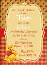 Winnie the Pooh Vintage Birthday Invitations birthday baby shower  PDF P... - $14.00