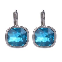 2017 Fashion Women Earrings For Wedding Silver Color Brincos Big Blue Au... - $20.00