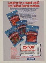 1992 Eckerd Drug Store Brand Vintage Magazine Ad Page Bagged Candy - $4.47