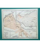 LIBYA Tripoli City Town Plan & Environs - 1911 BAEDEKER MAP - $16.20