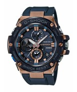 Casio G-Shock G-Steel Connected Rose-Tone Blue Rubber Strap Watch GSTB100G-2A - $299.98