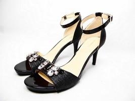Liz Claiborne Heidy Jeweled Heeled Sandals Black Size 7.5 NWOB - $40.10