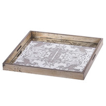 "Etched Mirrored Tray 20""x20"" - 43646-DS - £59.71 GBP"