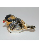 Dept 56 BEJEWELED Collection Bird w Berry Trinket Box  - $24.14