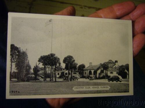 Vintage Golf Postcard Venice Country Club Florida
