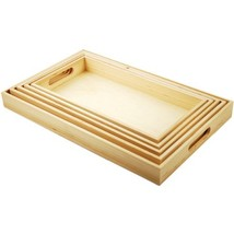 Multicraft Imports WS410 5-Piece Paintable Wooden Trays with Handles, 6-... - $22.52
