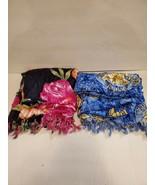 2 Aloha Fashion Hawaiian Fashion Wraps 1 Black Floral & 1 Blue/Gold Celestial - $24.00