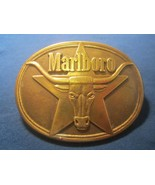 Solid Brass Belt Buckle MARLBORO 1987 [j25j]  - $6.72