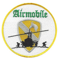 US Army 1st Air Cavalry Airmobile Patch 4.0'' X H 4.0'' - $13.85