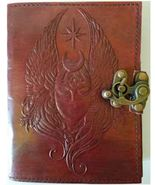 Moon Goddess 240 page leather blank book w/ latch - $33.99